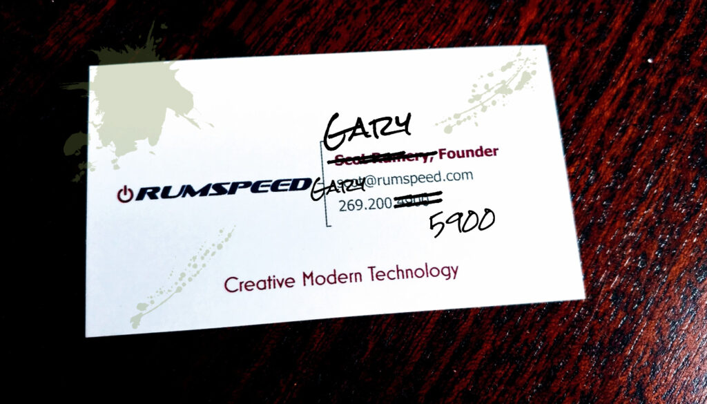 Messy Business Card