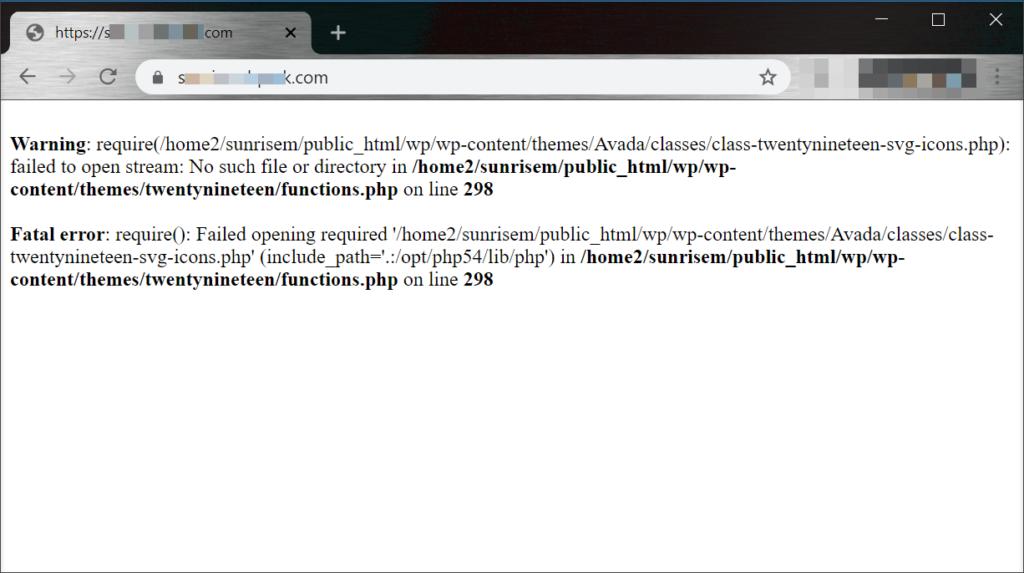php-errors-wordpress-plugin-theme-failed-mhc-websites